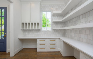 Shelving for laundry area