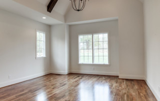 Entryway with high vaulted ceilings