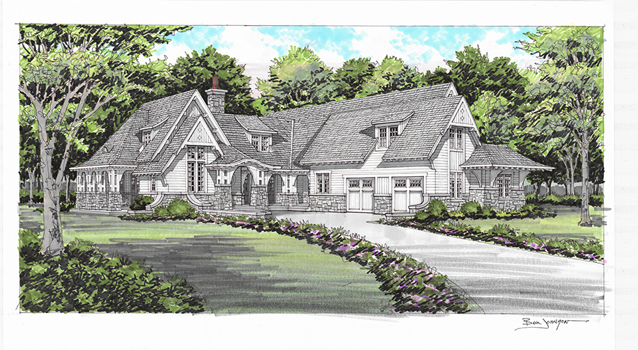 Rendering of home for Sloan Valley Farms
