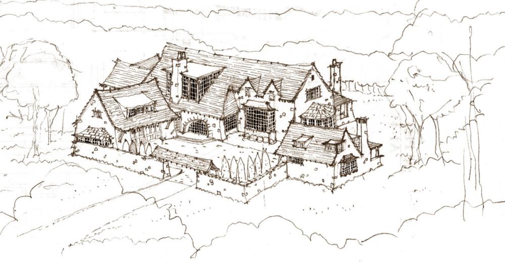 6014 Serene Valley Trail, Franklin TN, Baird Graham home, Architect Jeffrey Dungan Rendering